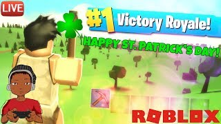 ViewtifulTV LIVE STREAMING: HAPPY ST PATRICK'S DAY! ROBLOX ISLAND ROYALE (Fortnite) BETA TESTING #4