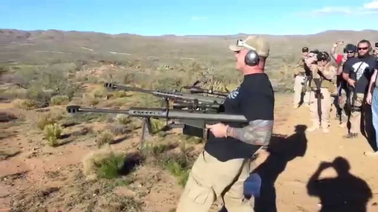 Shooting Two Barrett 50bmg Rifles Youtube