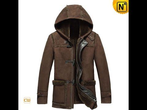 Brown Hooded Sheepskin Duffle Jacket CW877398 | Jackets.cwmalls.com