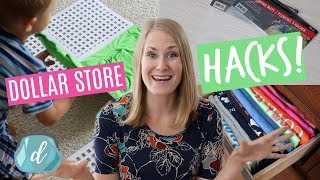 $1 DOLLAR STORE HACKS 💚 Laundry & Kitchen Organization!