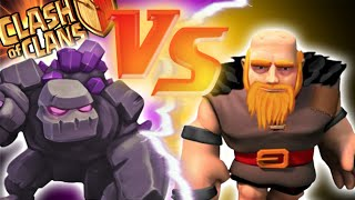 """GOLEMS VS GIANTS"" - Clash of Clans - MAXED BATTLE OF THE TANKS! Epic Loot Versus Attacks!"
