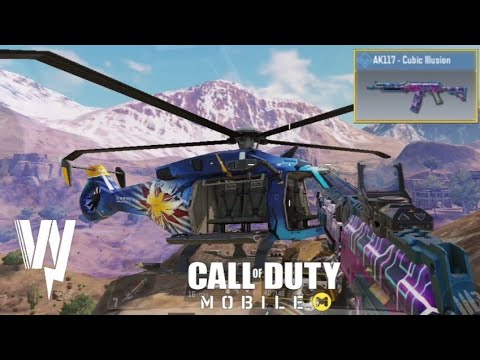 *NEW* AK117 - Cubic Illusion SKIN GAMEPLAY / CALL OF DUTY MOBILE BATTLE ROYALE  / SOLO