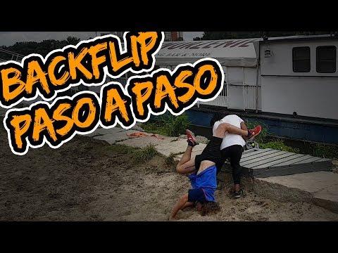 Como PERDER EL MIEDO AL BACKFLIP Paso A Paso 👣 Parte #1   🤘🏽🐵 Parkour TUTORIAL #13