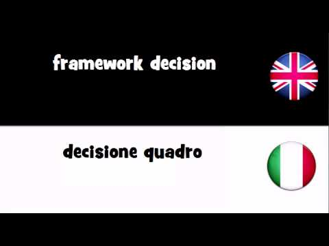 TRANSLATE IN 20 LANGUAGES = framework decision