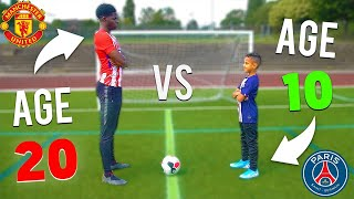 Download lagu 10 YEAR OLD KID vs 20 YEAR OLD FOOTBALL CHALLENGES MP3