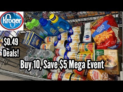 Kroger   Mega Event – Buy 10, Save $5   $0.49 Grocery Items 🙌🏽 – No Coupons Needed! 11/6 – 11/19