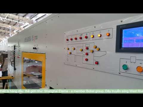 Máy bế phẳng lắp đặt tại Sovi - PTS INDUSTRIES CO ., LTD