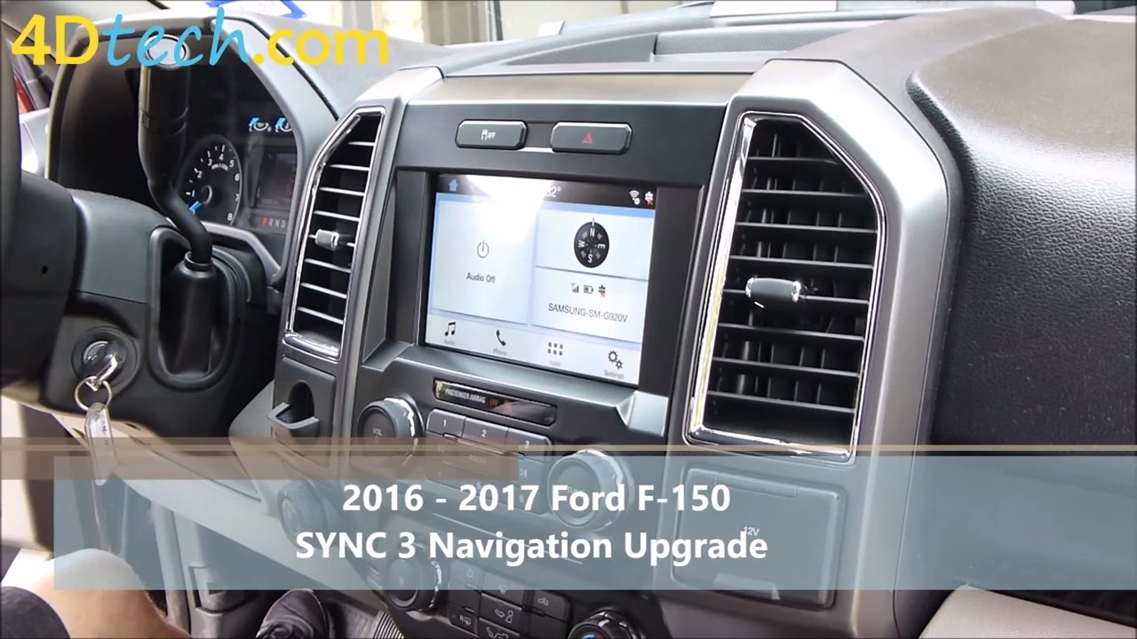 add factory navigation to sync 3 2016 2017 ford f 150. Black Bedroom Furniture Sets. Home Design Ideas
