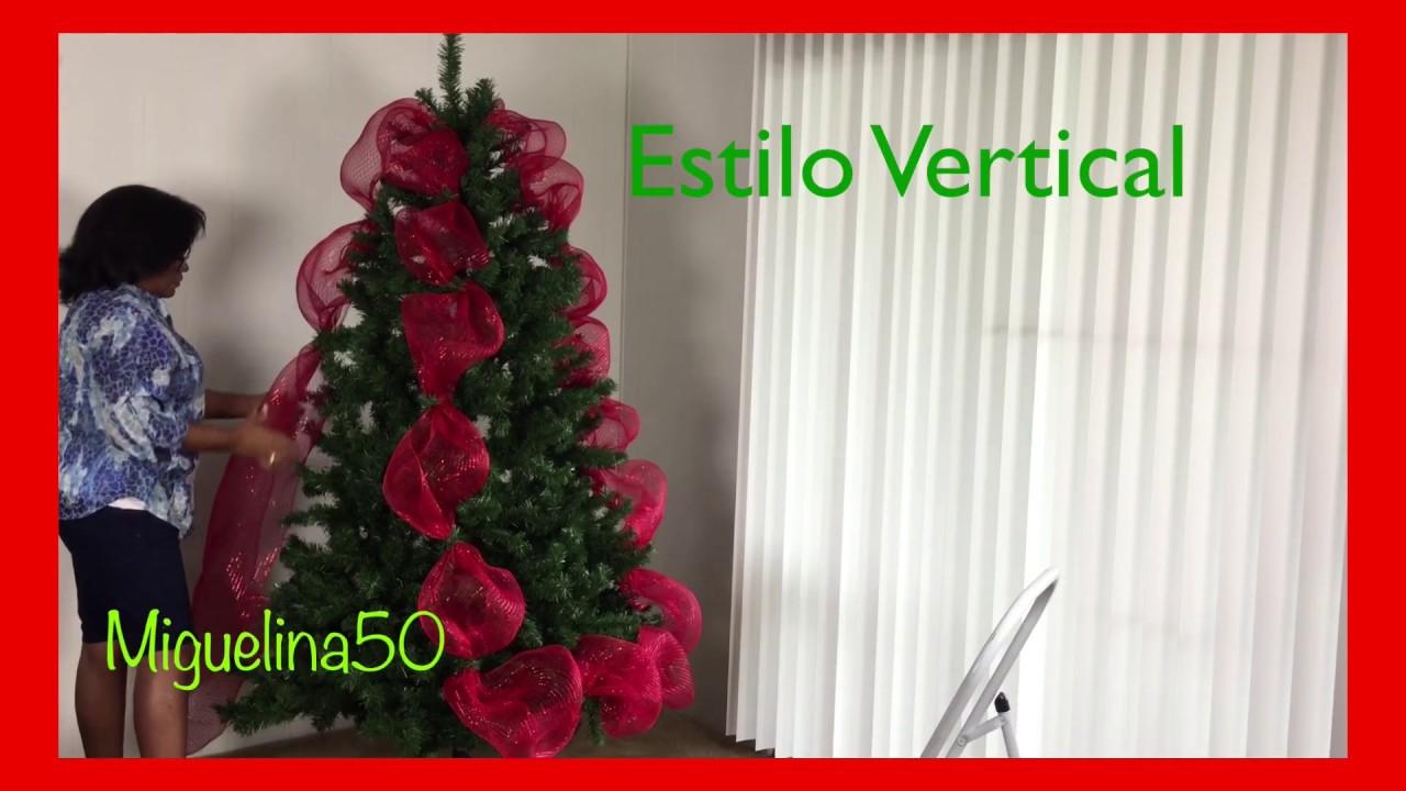 Ideas para decorar el arbol de navidad con malla youtube - Como decorar un arbol de navidad ...