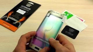 "ОБЗОР: Фирменная Противоударная Защитная Пленка для Samsung Galaxy S6 Edge SM-G925F ""Buff"""