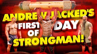 ANDREW JACKED'S FIRST DAY STRONGMAN + ANOTHER PR FOR LARRY WHEELS!