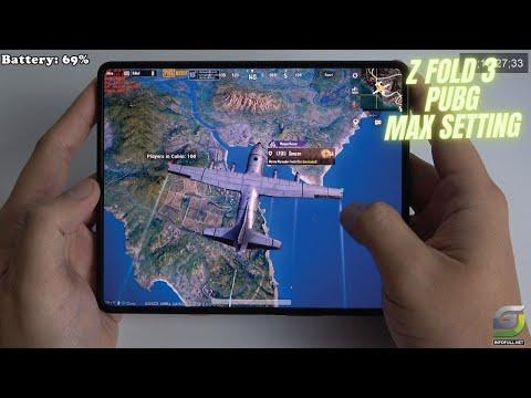 Samsung Galaxy Z Fold 3 test game PUBG Max Setting | 120Hz Display, Snapdragon 888