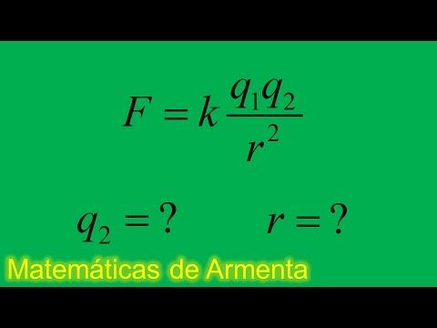 despeje de incognitas de formulas ejemplo 18 ley de coulomb