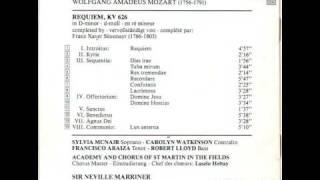 W.A. Mozart:  REQUIEM, KV 626 in d:  II:  Kyrie