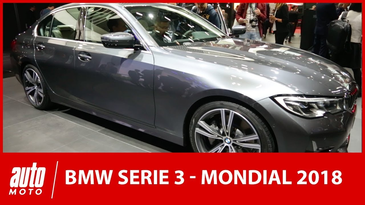 mondial de l 39 auto 2018 la bmw s rie 3 fait peau neuve youtube. Black Bedroom Furniture Sets. Home Design Ideas