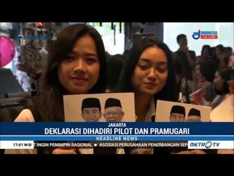 Perhimpunan Profesi Pilot Deklarasi Dukung Jokowi-Maruf