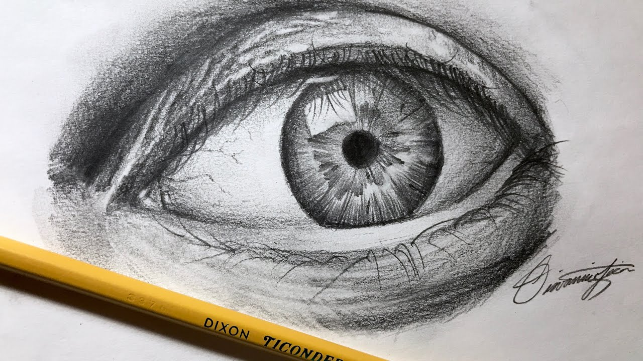 How To Draw A Realistic Eye Using JUST a Pencil! - Step by ... How To Draw A Realistic Eye Step By Step With Pencil