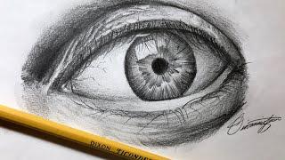eye pencil realistic easy step draw using beginners