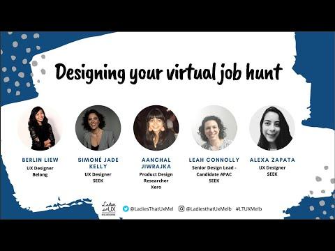 LadiesThatUX Melbourne - Designing Your Virtual Job Hunt (Sep 2020)