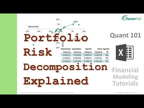Stock Portfolio Risk Decomposition Into Systematic Risk And Specific Risk