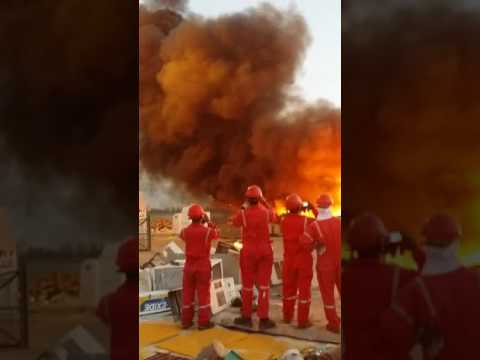 Fire in Asry dry dock kingdom of bahrain