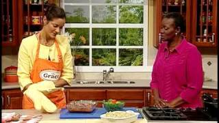 Dr. Allison Cross' Barbeque Fish Rolls With Herb Pasta - Grace Foods Creative Cooking