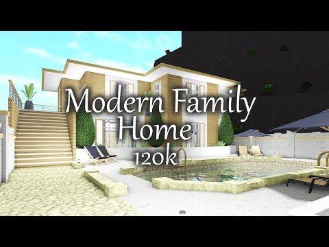 Bloxburg Modern Family Home 120k Re Creation Youtube