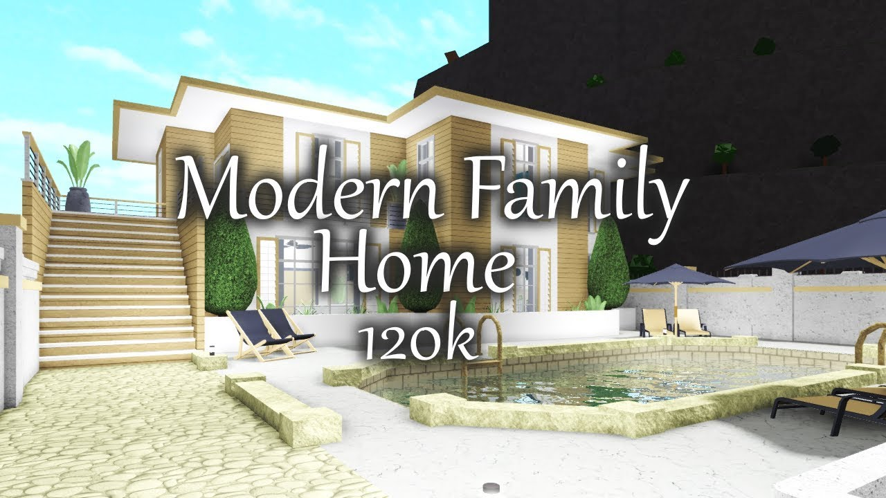 Bloxburg: Modern Family Home (120K) | Re-creation - YouTube