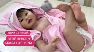 PRIMEIRA ROTINA DA MANHÃ DA BEBÊ REBORN CAROL