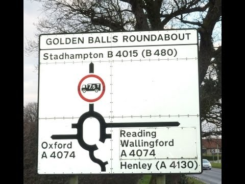Golden Balls Roundabout Oxfordshire (Funny Place Name Winner)