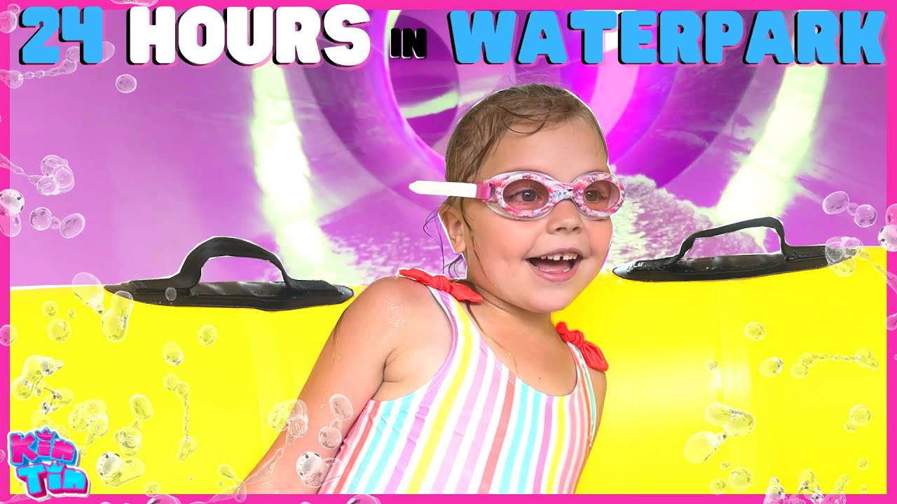 24 HOURS WATERPARK OVERNIGHT CHALLENGE!! LAST TO LEAVE THE POOL WINS!