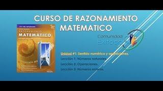 1 Matemáticas GED en Español (Lecciones 1-3)😅😊😉Números naturales y enteros