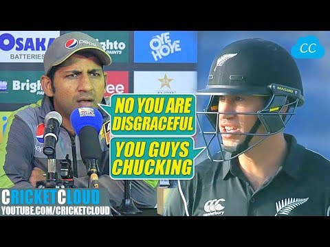 Sarfraz vs Ross Taylor on Chucking | Sarfraz said his Action was Disgraceful !!