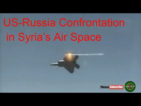 US-Russia Confrontation in Syria's Air Space :US F-22 Tried to Prevent Russian SU-25 from Bombing IS