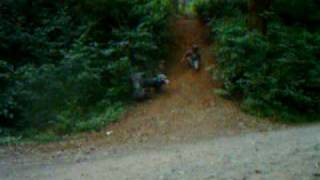Honda 110 ATC another hill climb gone wrong