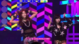 Repeat youtube video T-ARA - Lovey-Dovey, 티아라 - 러비더비, Music Core 20120204