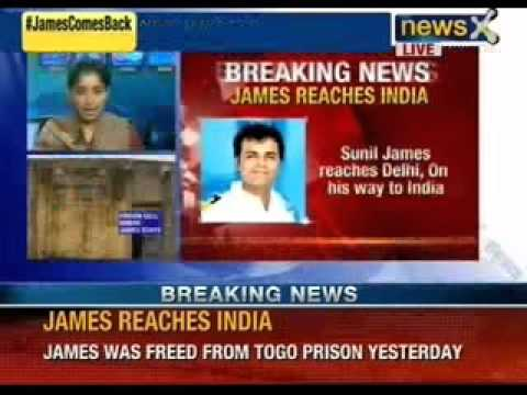 Breaking News: James reaches India. Sunil James reaches delhi, on his way to India