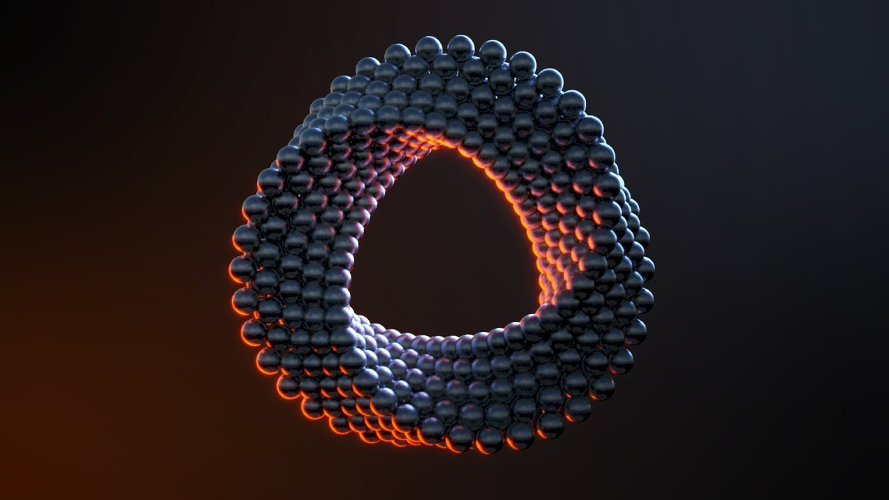 C4D Abstract Ring - Cinema 4D Tutorial (Free Project)
