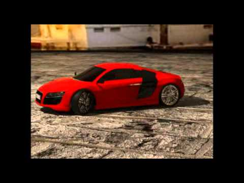 3Ds Max Car Animation-Audi R8 2012 Model.flv