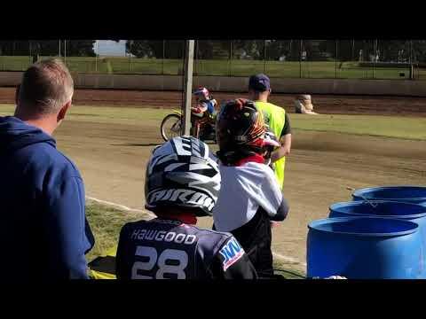 Tate Zischke 250 speedway practice