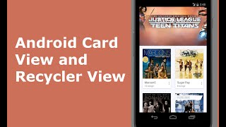 Android Card View and Recycler View