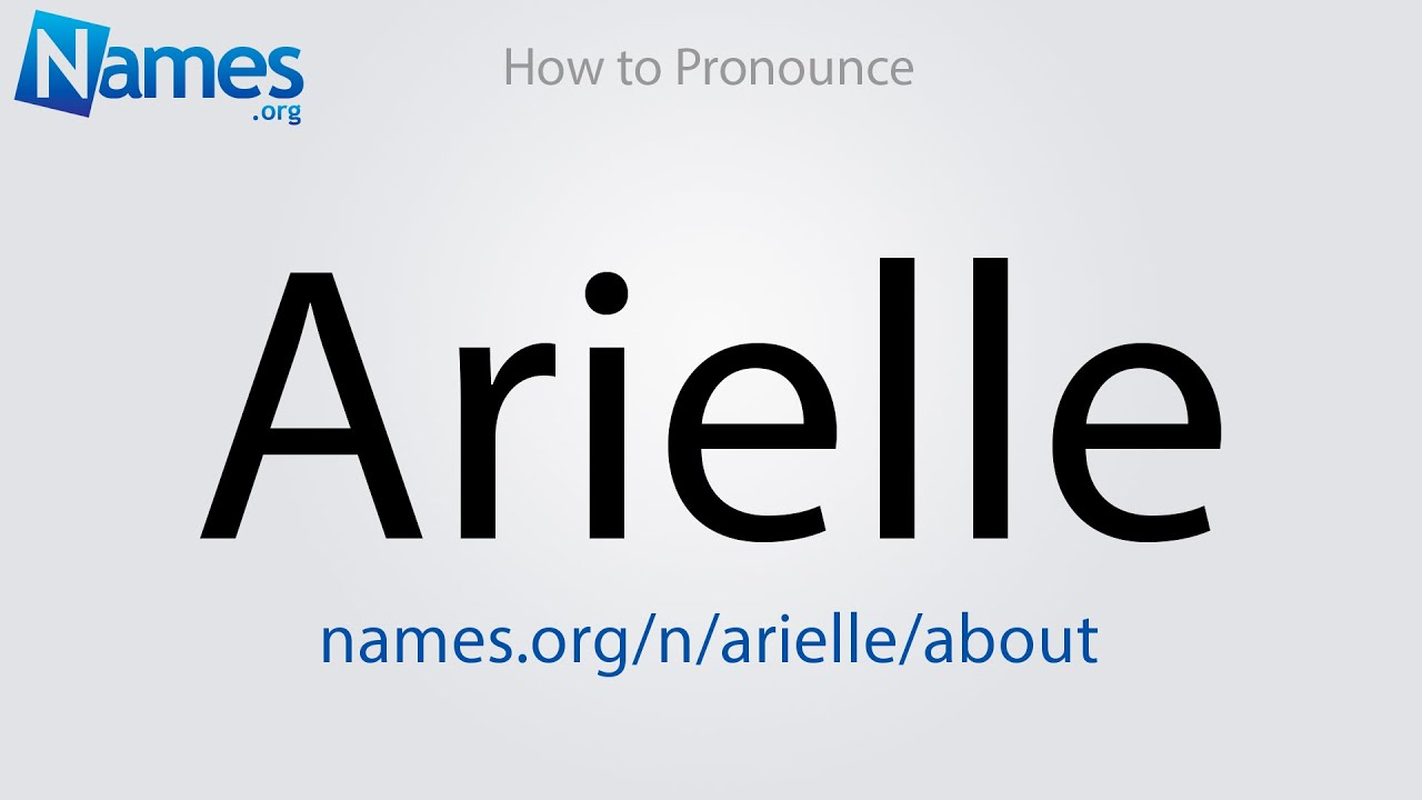 Download How to Pronounce Arielle