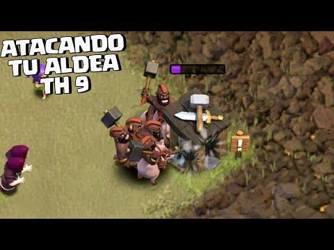 ATACANDO TU ALDEA Th 9 #58 - CLASH OF CLANS CON ANIKILO - DESAFIOS