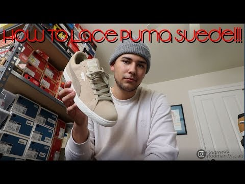 HOW TO LACE THE PUMA SUEDE!!!!!