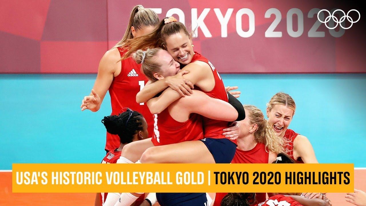 USA beat Brazil, win volleyball gold 🥇 🏐 | #Tokyo2020 Highlights
