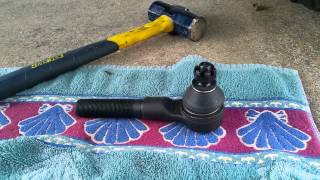 how to changing drag link tie rod end without a puller or fork jeep zj