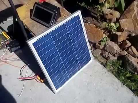 видео: Обзор, тест солнечной батареи на 30 ватт polykristall из Германии.