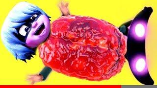 PJ Masks Luna Girl has BRAIN BELLY! Doc Mcstuffins Saves the Day!