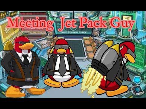 Meeting Jet Pack Guy - Club Penguin Rewritten - YouTube