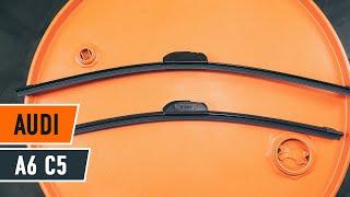 Τοποθέτησης Μάκτρο καθαριστήρα εμπρος και πίσω AUDI A6 Avant (4B5, C5): δωρεάν βίντεο